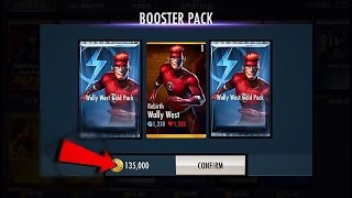 INJUSTICE 2.13! Wally West Gold PACKS Opening!! /Rebirth Flash/ iOS|android