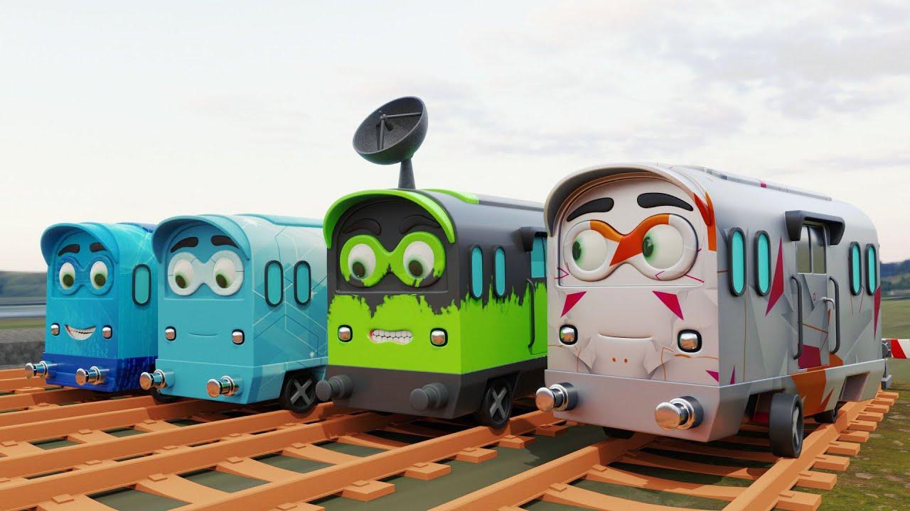 The Bad Train Race👹 - Train race cartoon - choo choo train kids videos