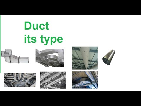 Duct Ii Types Of Duct Ii Duct Material Youtube