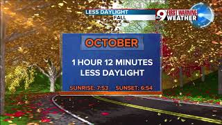 Daylight Saving Time comes to an end Nov. 5