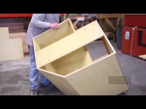 Corner Base Cabinet Assembly   Bi Fold Door | Knotty Alder Cabinets.  KnottyAlderCabinets.com