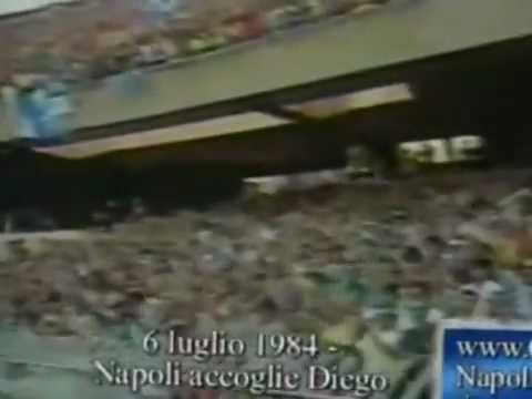 Arriva Maradona al San Paolo...Luglio 1984