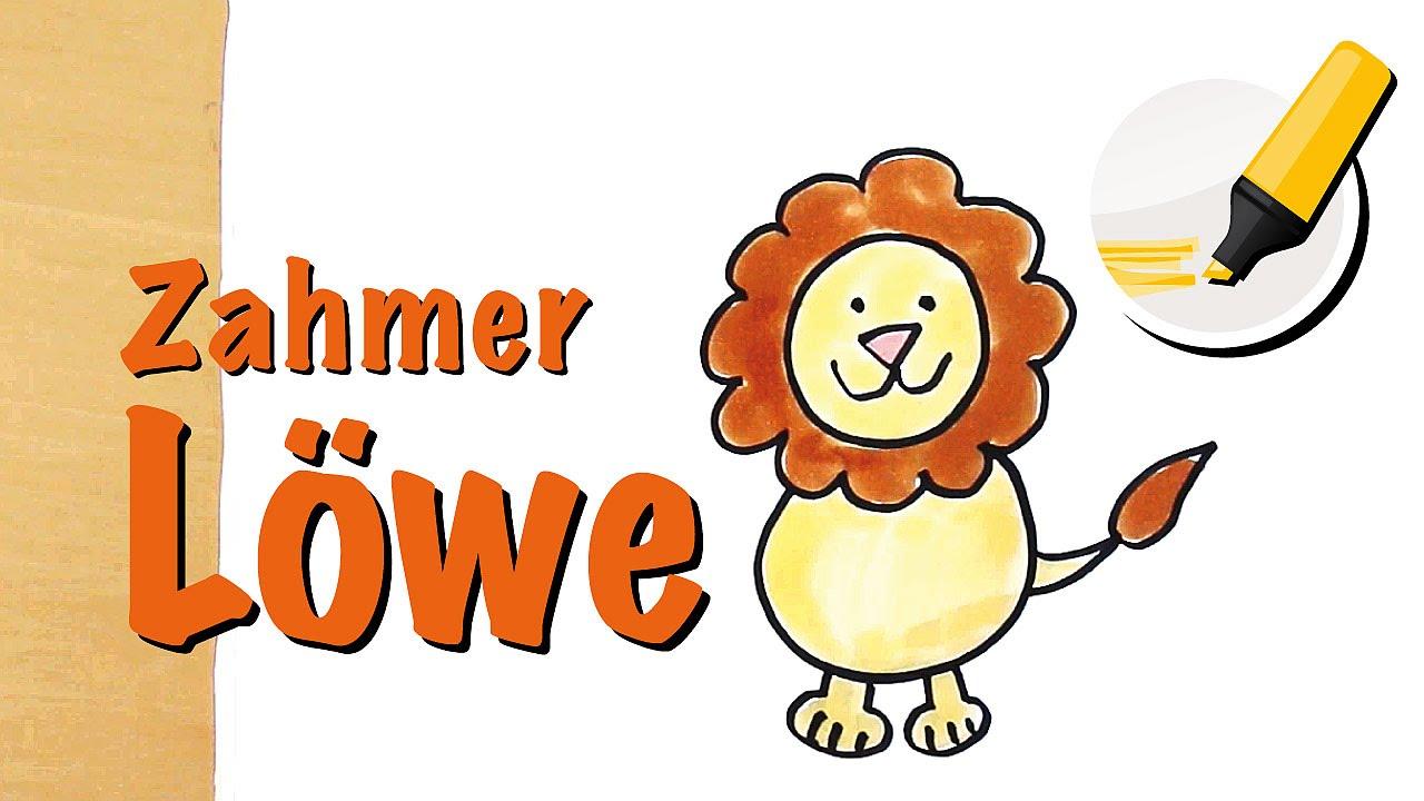 Lowe Zeichnen Lernen Der Konig Der Tiere How To Draw A Lion