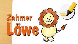 Löwe zeichnen lernen: Der König der Tiere - How to draw a Lion (Cartoon)
