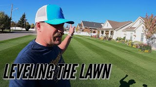 HOW TO Level your LAWN FLAT. Topdressing