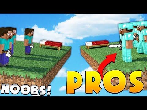 3 PROS VS 12 NOOBS - Minecraft Bed Wars