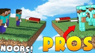 3 PROS VS 12 NOOBS - Minecraft Bed Wars