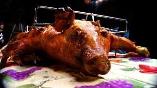 Cuban Lechón Asado  Pig Roast in the La Caja China