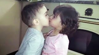 😍 funny and cute babies 😁💗 funny babies kissing