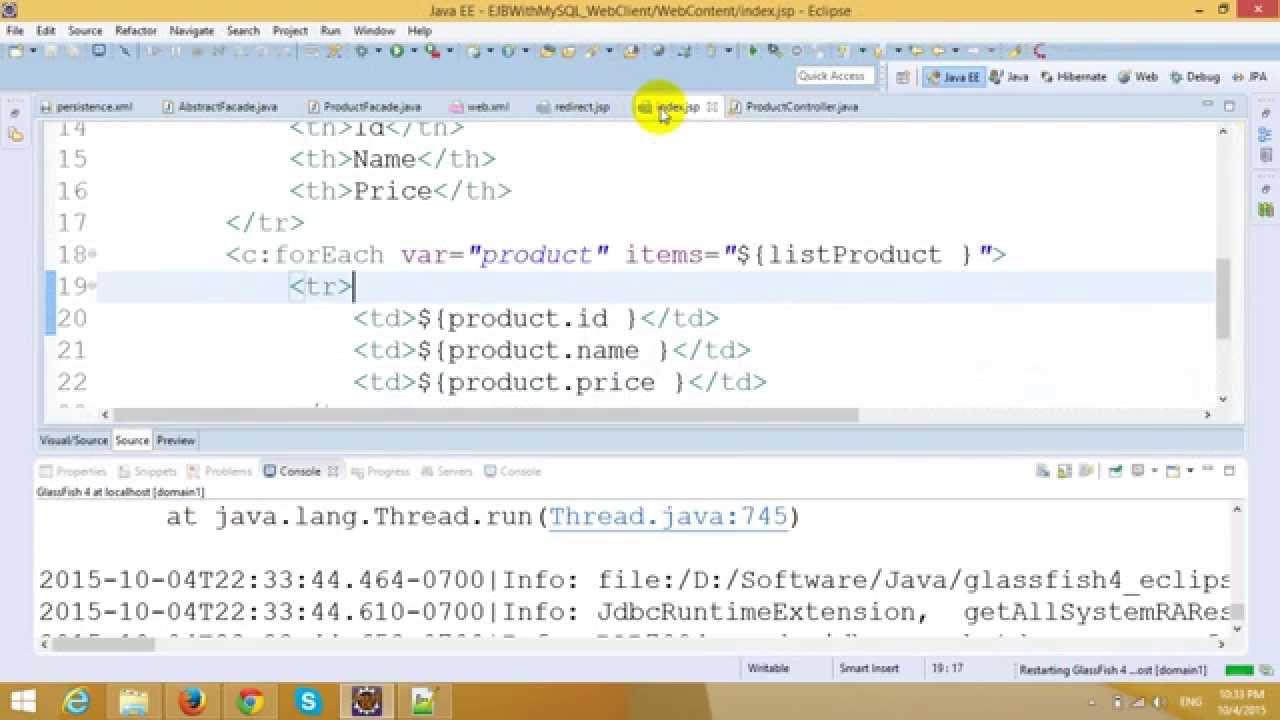 Ejb tutorial part 3 use jpa in ejb and mysql youtube ejb tutorial part 3 use jpa in ejb and mysql baditri Images
