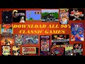 Download all 90's classic games for free.  MARIO,CONTRA,STREET FIGHT etc.