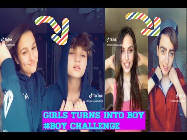 Girls Turns Into boy #Boy Challenge New Trend Musically & TikTok Compilation 2018