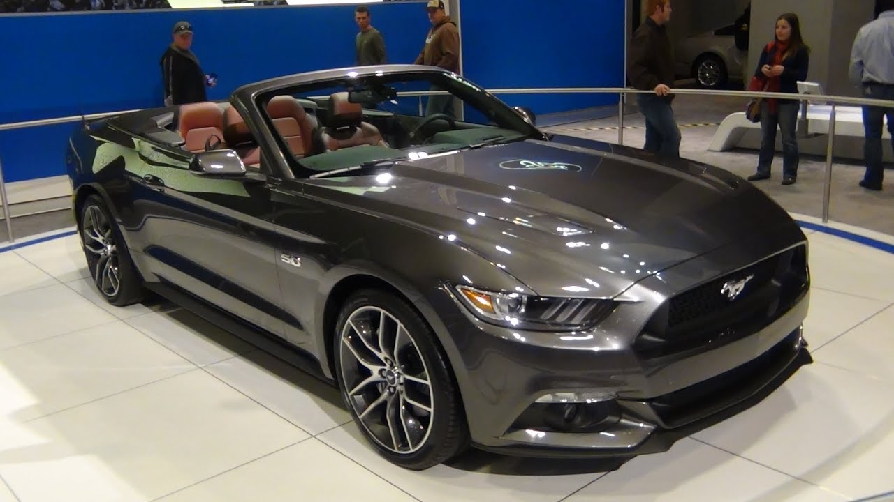 2015 ford mustang gt convertible exterior tour youtube. Black Bedroom Furniture Sets. Home Design Ideas