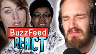 Repeat youtube video PEWDIEPIE REACTS TO BUZZFEED REACTING TO PEWDIEPIE (PewDiePie React)