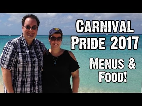 Carnival Pride Dinner Menus & Food - 7-Day Caribbean Cruise Itinerary - American Table - ParoDeeJay