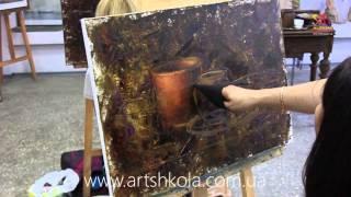 Мастер класс живописи Елены Ильичевой - Чашечка шоколада
