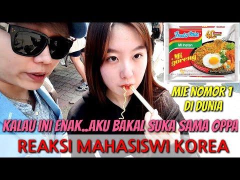 REAKSI ORANG KOREA MAKAN MIE GORENG INDONESIA