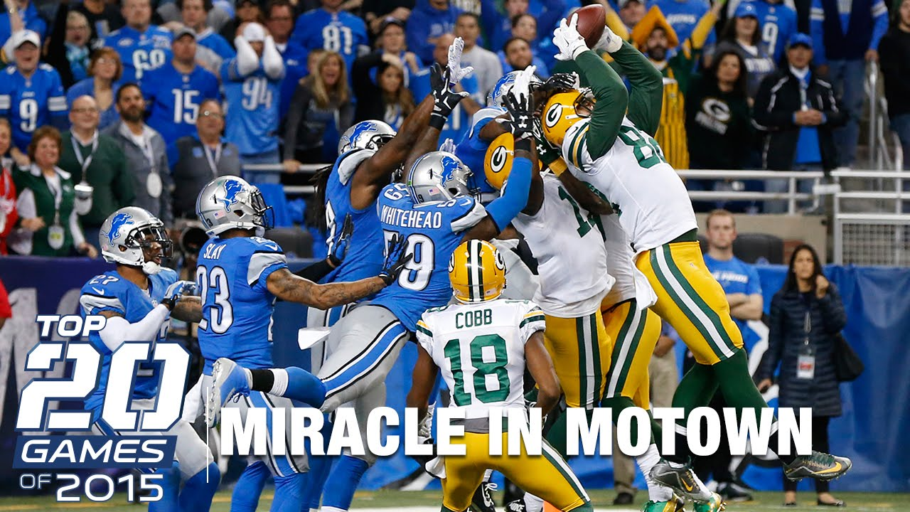 8 Packers Vs Lions Top 20 Games Of 2015 Nfl Youtube