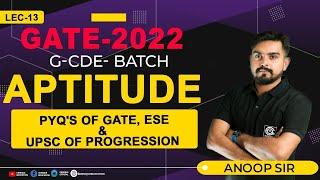 PYQ's of GATE, ESE \u0026 UPSC of Progression || GATE/ESE 2022 I G-CDE Batch I GATE Live Class