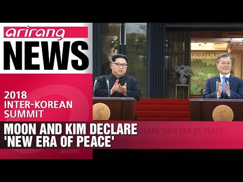 Moon and kim declare 'new era of peace'
