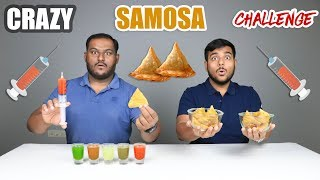 CRAZY SAMOSA EATING CHALLENGE | Samosa Eating Competition | Food Challenge
