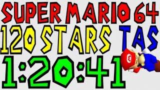 "[TAS] N64 Super Mario 64 ""120 Stars"" in 1:20:41"