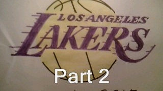 How To Draw Los Angeles Lakers Logo Part 2 Sign Symbol Emblem Easy Tutorial
