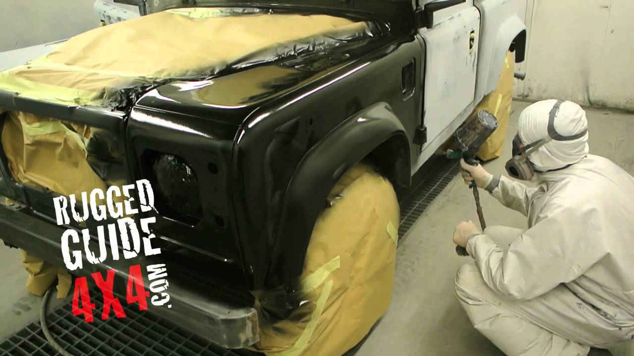 Spraying Land Rover Defender 90 Matt Black Youtube