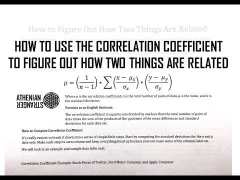 DIY STATS: How to Calculate the Correlation Coefficient (ρ) to Figure Out How Two Things Are Related