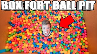 BOX FORT BALL PIT! 📦 Worlds Biggest HomeMade Ball Pit In A Box Fort!!