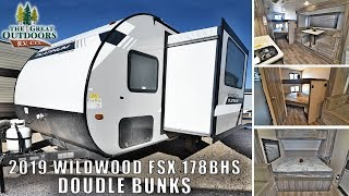 New 2019 WILDWOOD FSX 178BHS Fiberglass Double Bunk Beds U Shaped Dinette Greeley Colorado