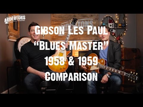 Guitar Paradiso - Gibson Les Paul Blues Master 58 & 59 Comparison