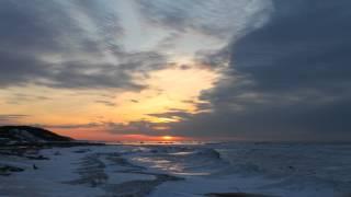 Закат на Белом Море(Нижняя Золотица. Экспедиция на Белое Море. Северная Рыбалка., 2014-03-07T04:58:23.000Z)