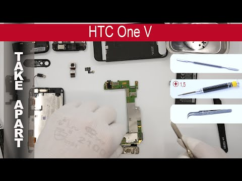 How to disassemble 📱 HTC One V T320e, Take Apart