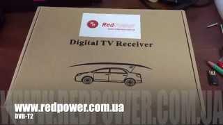видео Автомобильный цифровой ТВ-тюнер RedPower DT7 (2 антенны, HDMI, DVB-T2, до 120 км/ч)