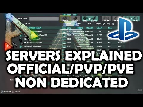 ARK Survival Evolved PS4 Servers Explained - Join Official/Non Dedicated/Single Player