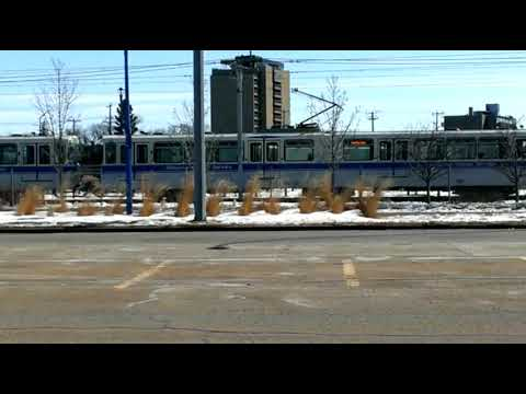 LRT at Stadium Station - Edmonton, AB