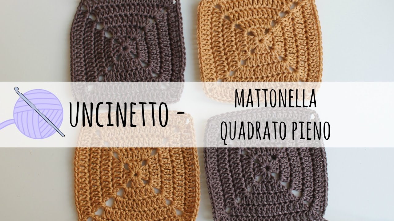 Tutorial Uncinetto Borsa A Mattonella Solid Square Youtube