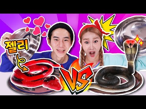 [Jelly Food VS Real Food] Random Food Roulette with Banzz!! -Jini
