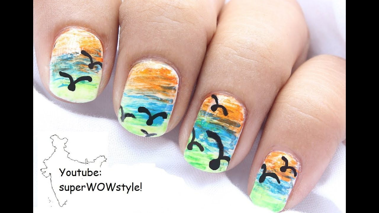 Indian Independence Day Nail Art Superwowstyle Youtube