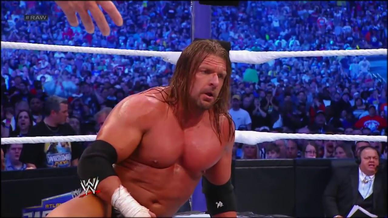 Raw  Undertaker vs  Triple H   WrestleMania XXVII highlights 1