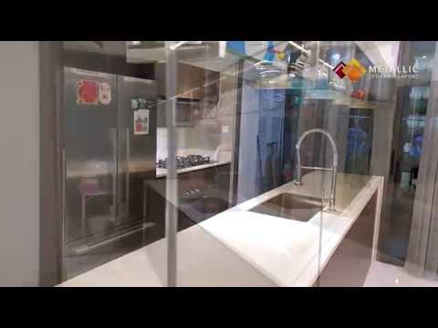 Metallic Epoxy Coated Countertop (Light Khaki Marble Theme Design)