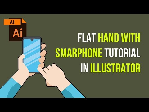 Flat Hand, Hand With Phone, Touching smartphone Tutorial in Adobe Illustrator thumbnail