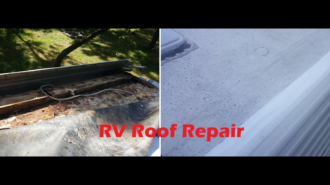 rv roof repair youtube