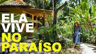 JARDIM GIGANTE - CASA TODA ABERTA E CERCADA DE PLANTAS - ELA VIVE NO PARAÍSO