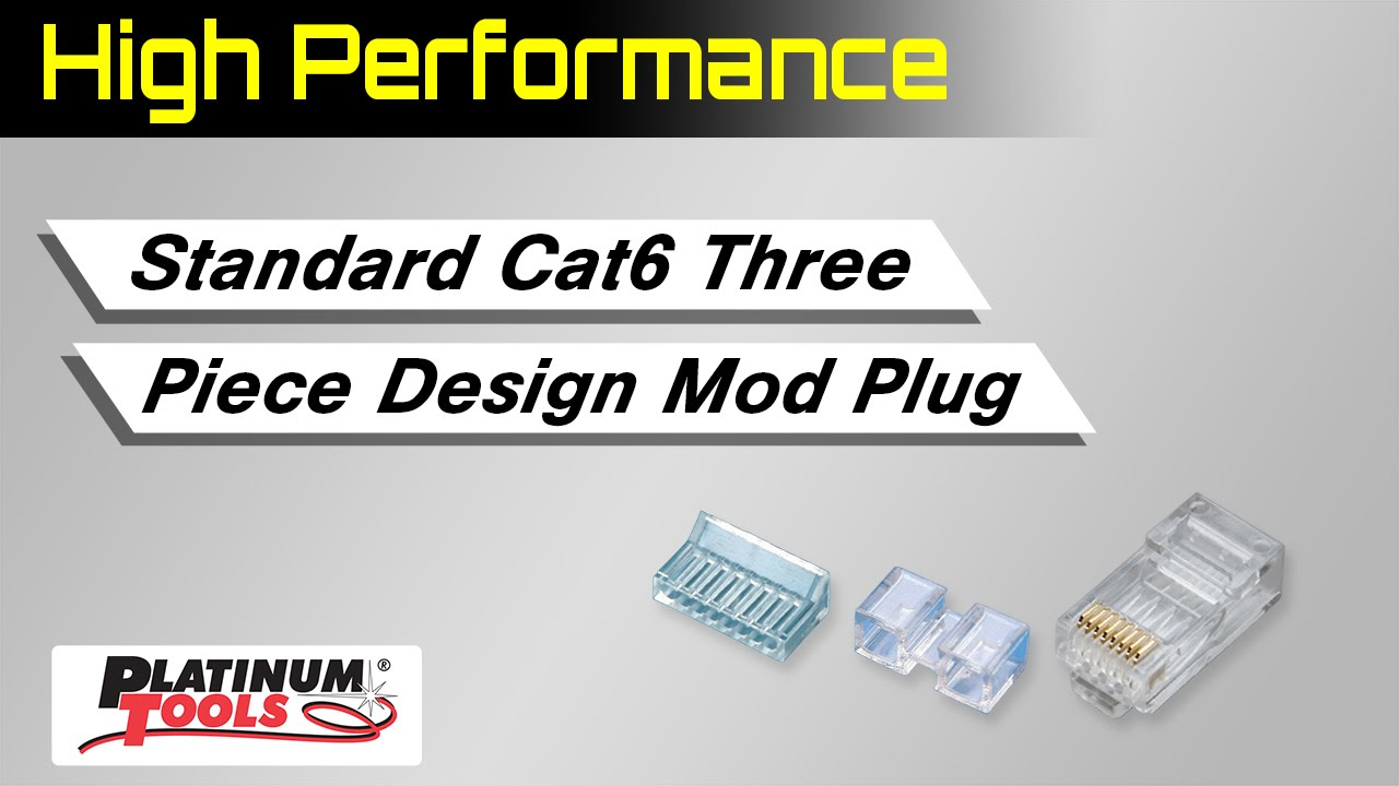 High performance standard cat6 three piece design mod plug youtube publicscrutiny Images