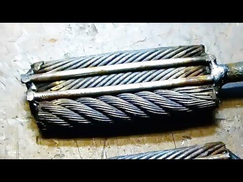 Das Schmieden der Klinge des Kabels. Damaskus von Kabel.
