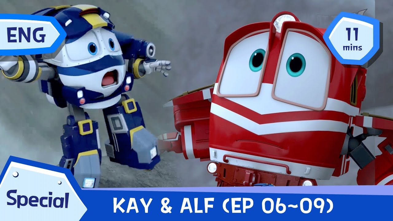 🚙 🚗 💨 KAY and ALF Special | EP 06~EP 09(11mins) |  Robottrains Season1 | ENG  robottrainreplay