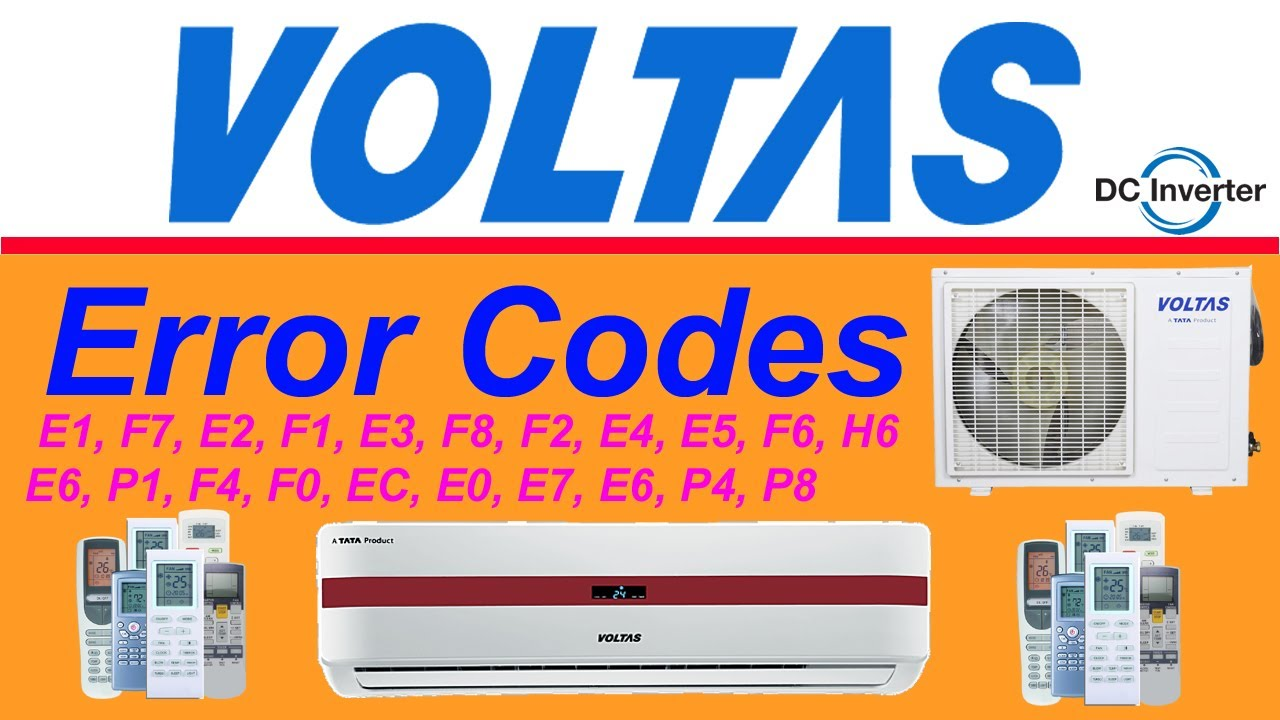 Voltas Air Conditioner All Error Codes And Solution Troubleshooting Urdu Hindi Youtube