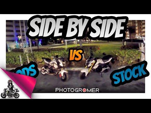 2017 Honda Grom Side by Side Stock vs Mods